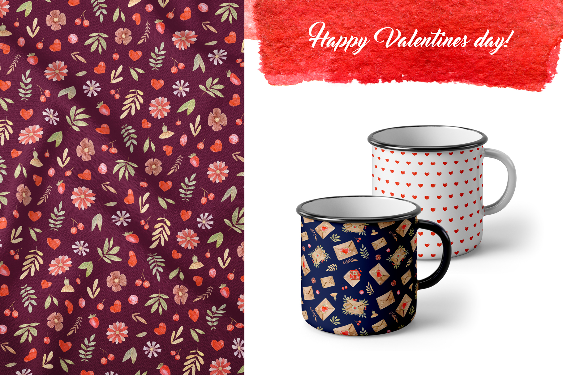 Valentines Day Seamless Patterns example image 6