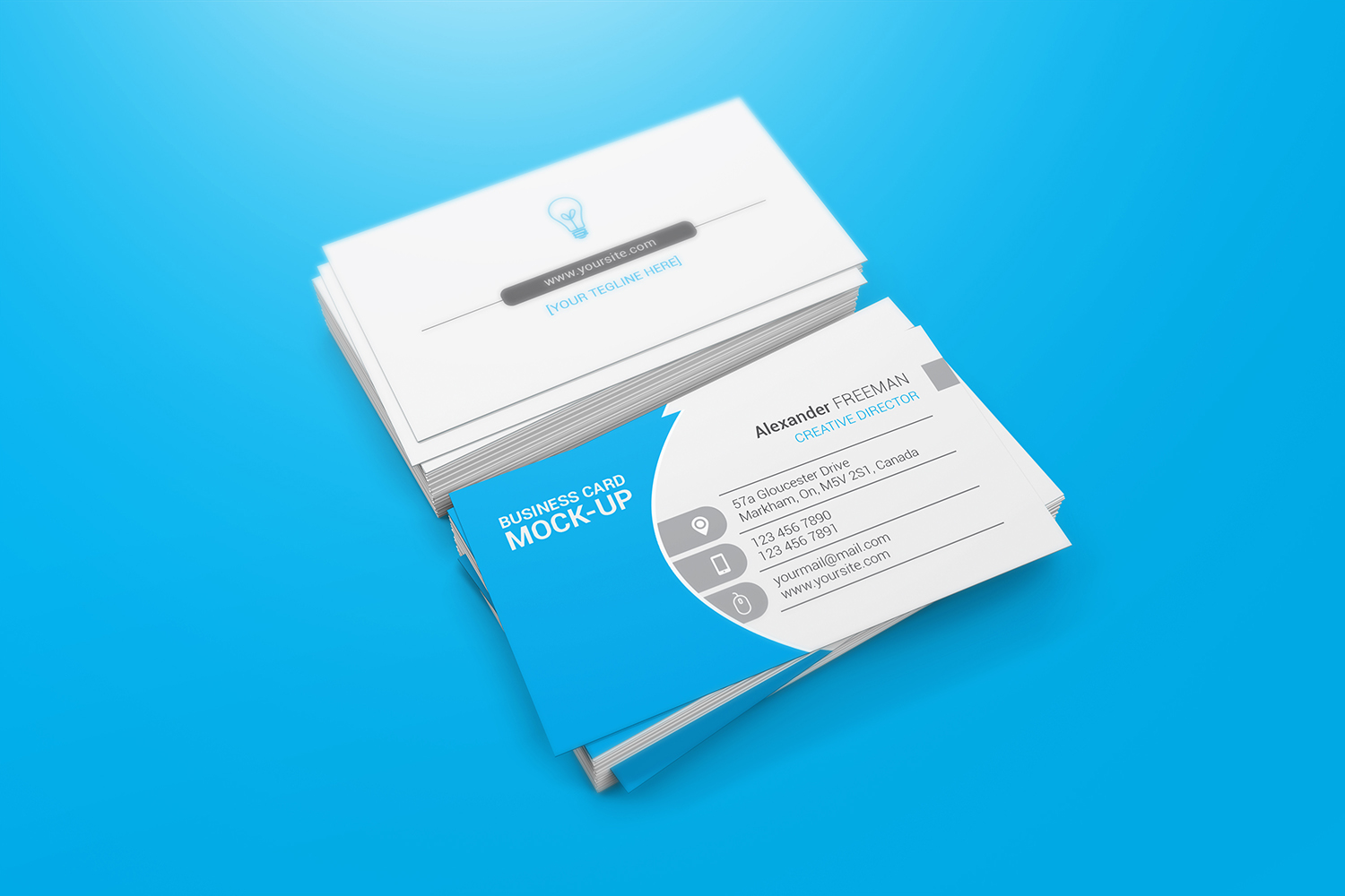 90x50 Business Card Mockups example image 5