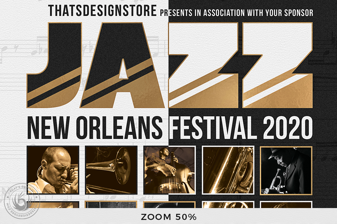 Jazz Festival Flyer Template V9 example image 7