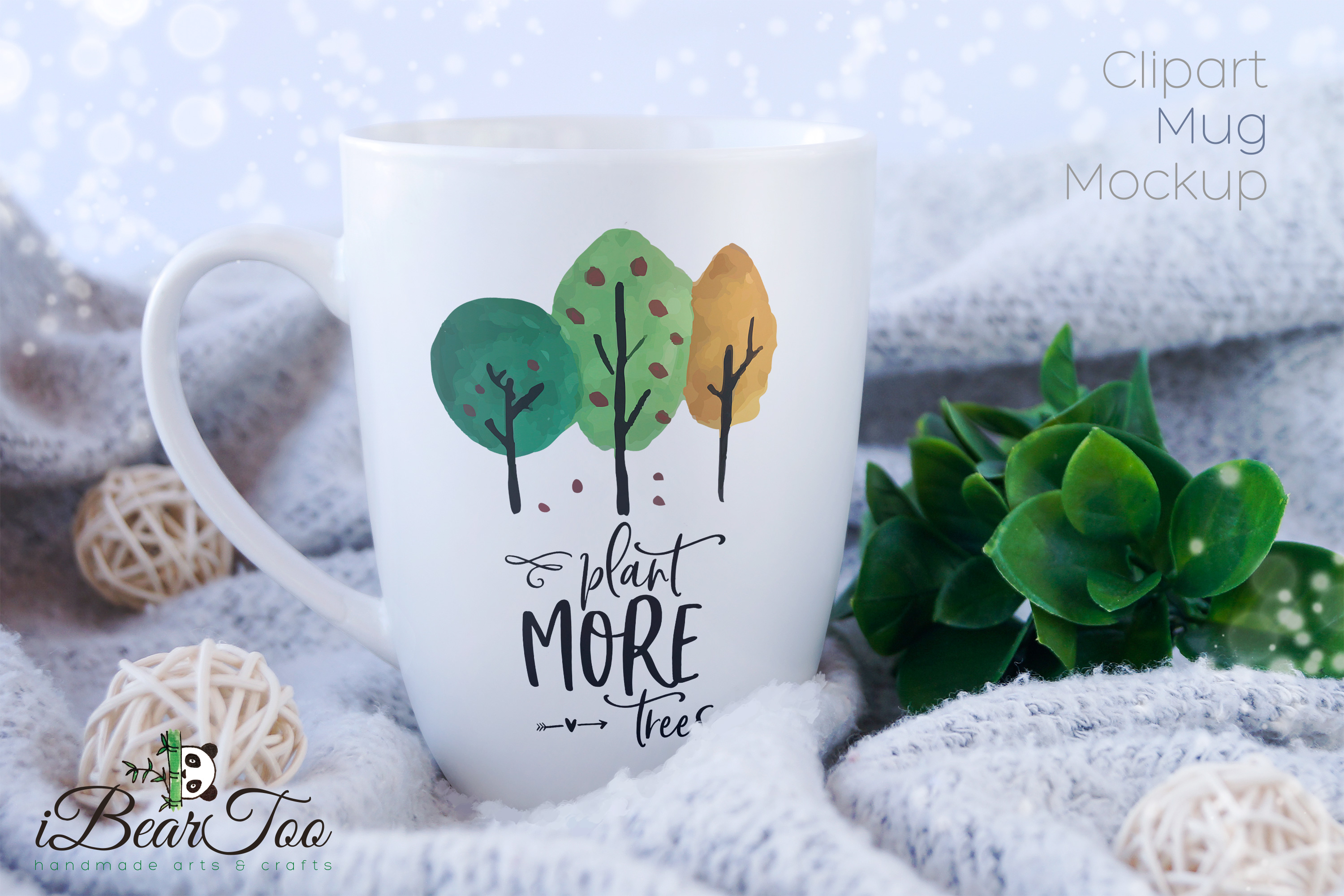 Plant More Trees SVG Clipart Watercolor, Vector Sketch example image 3