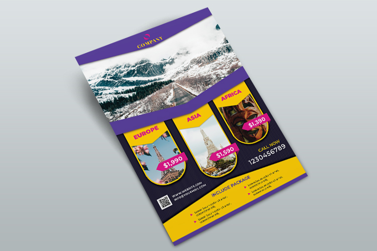 Travel Agency Flyer Template example image 4