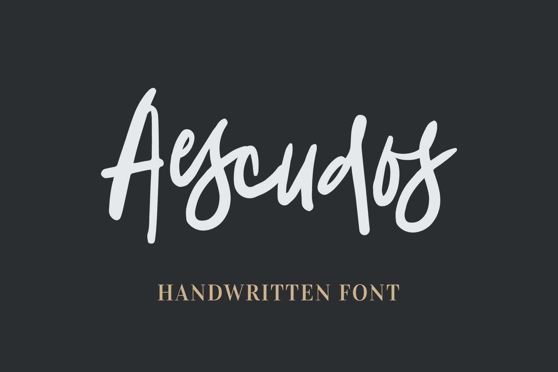 Aescudos - Handwritten Font example image 1