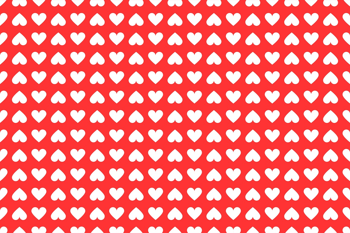 Set of seamless patterns with hearts example image 11