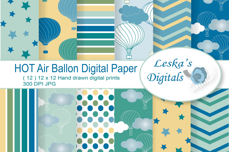 Hot Air Balloon Digital Paper example image 1