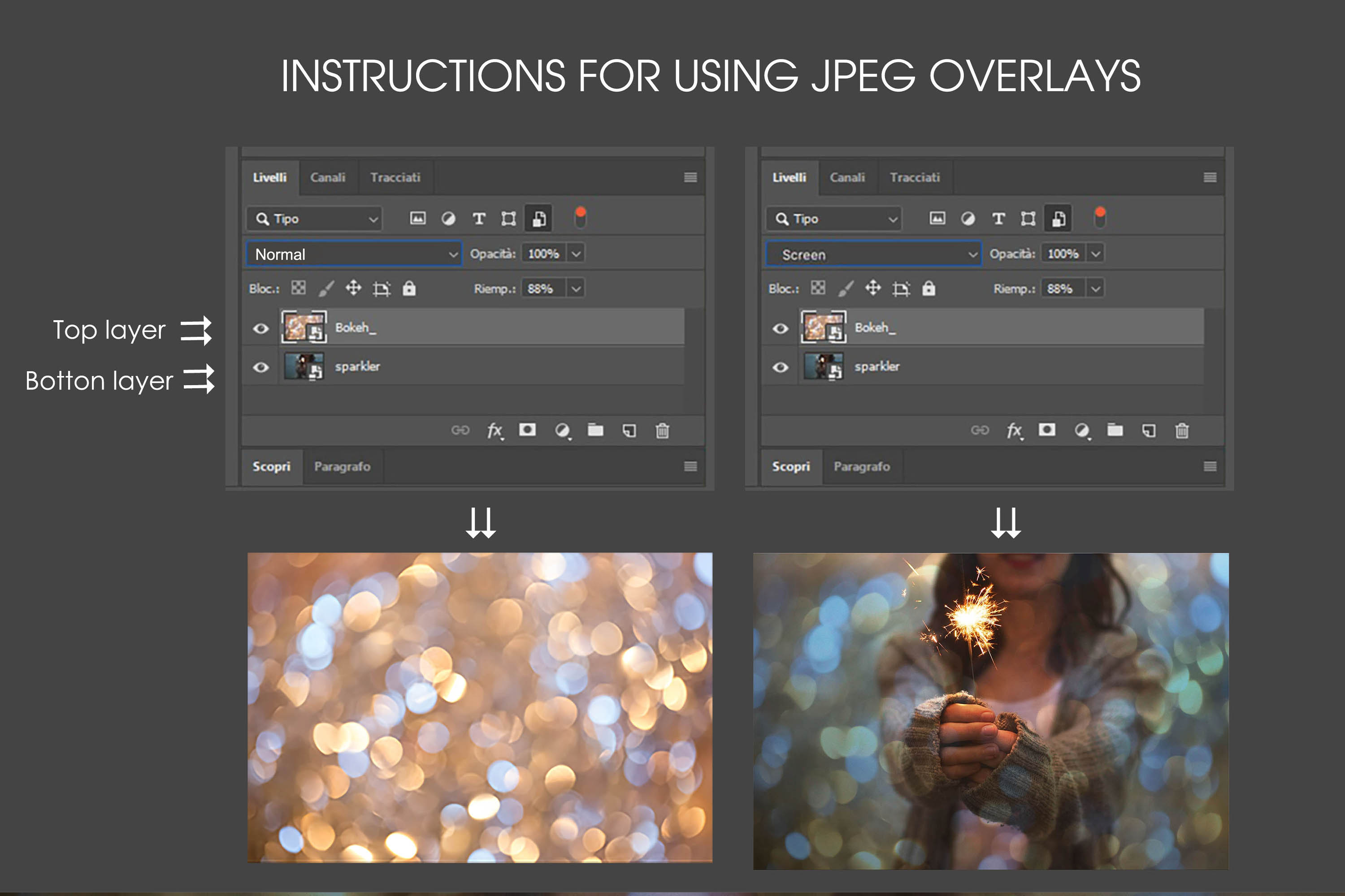 Bokeh gold overlays high resolutions example image 3