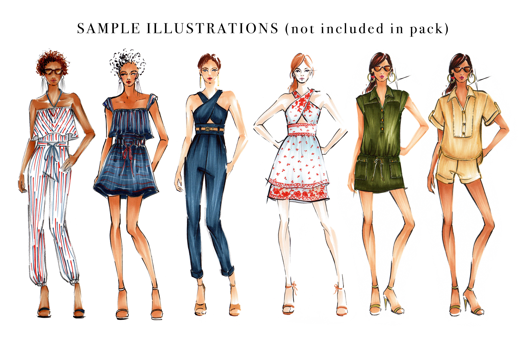Female Figure Croquis Pack for Fashion Illustration example image 3