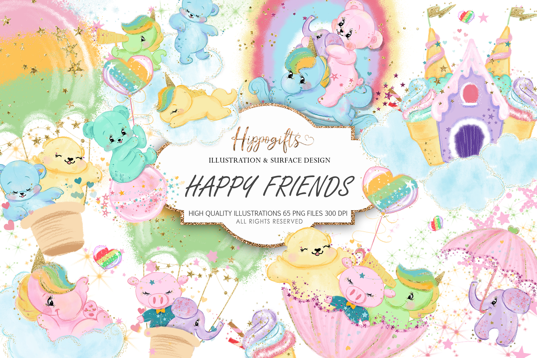 Bears and unicorns clip art example image 1