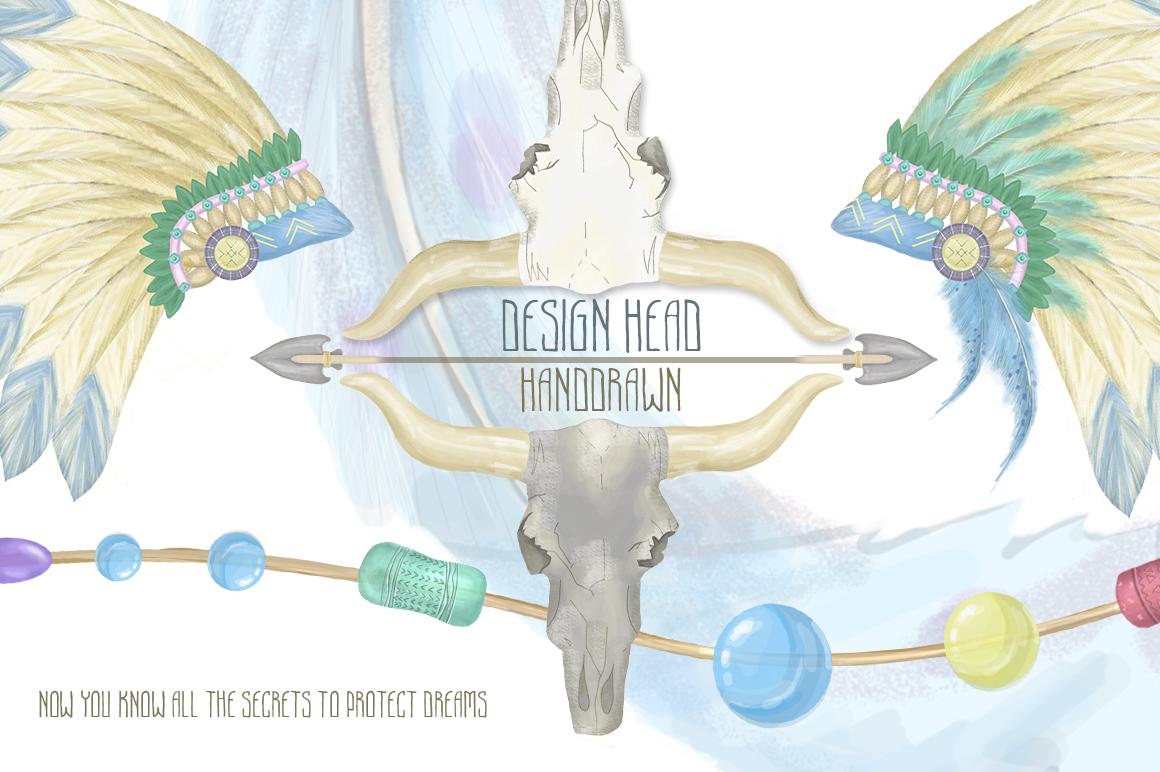 Dreamcatcher. Tribal Set example image 7