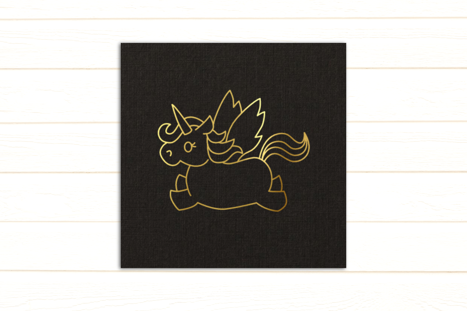Flying Unicorn SKETCH Single Line Pen & Foil Quill SVG example image 2