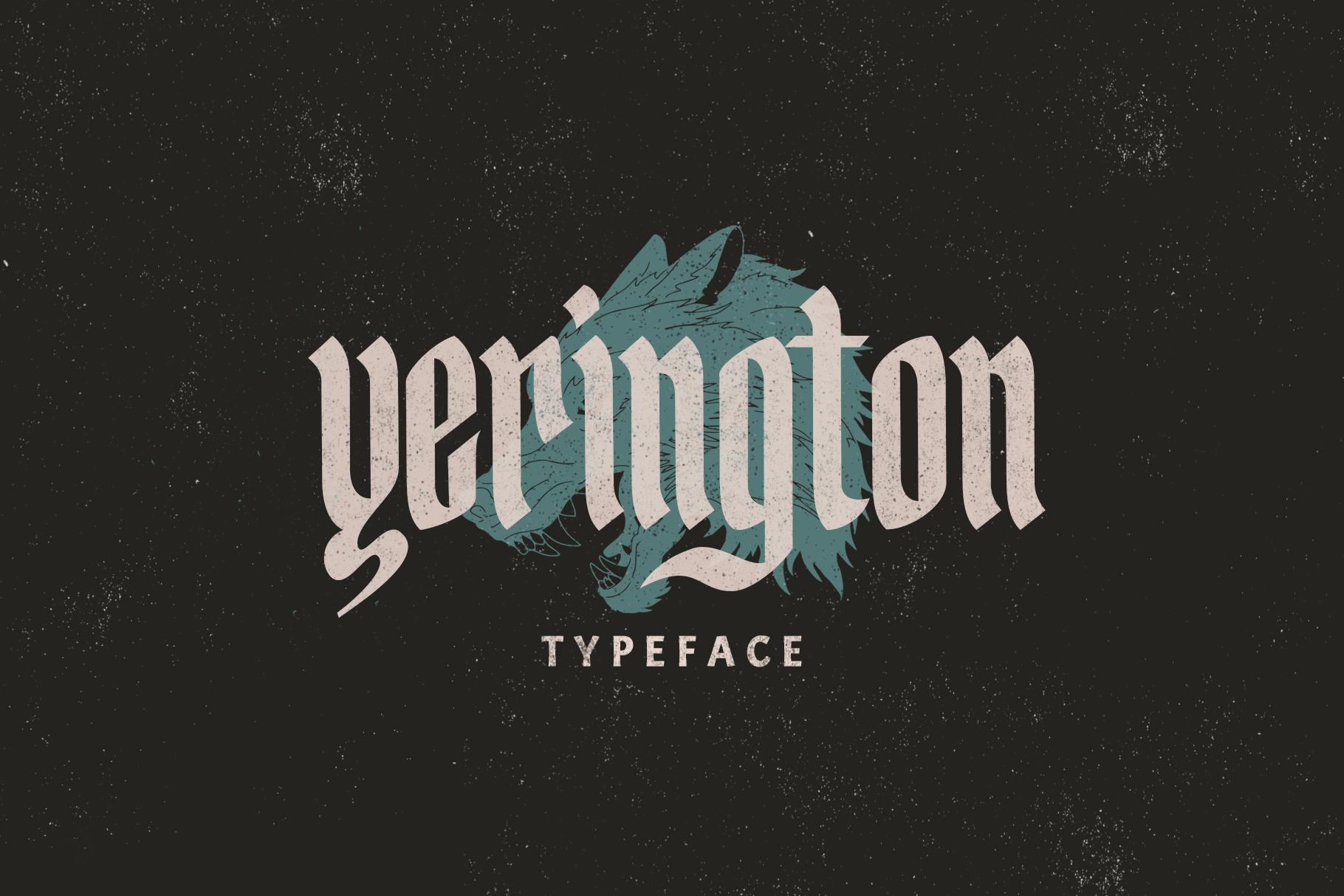 Yerington Typeface example image 1