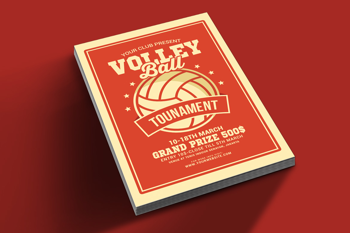 Volleyball Tournament Flyer example image 2