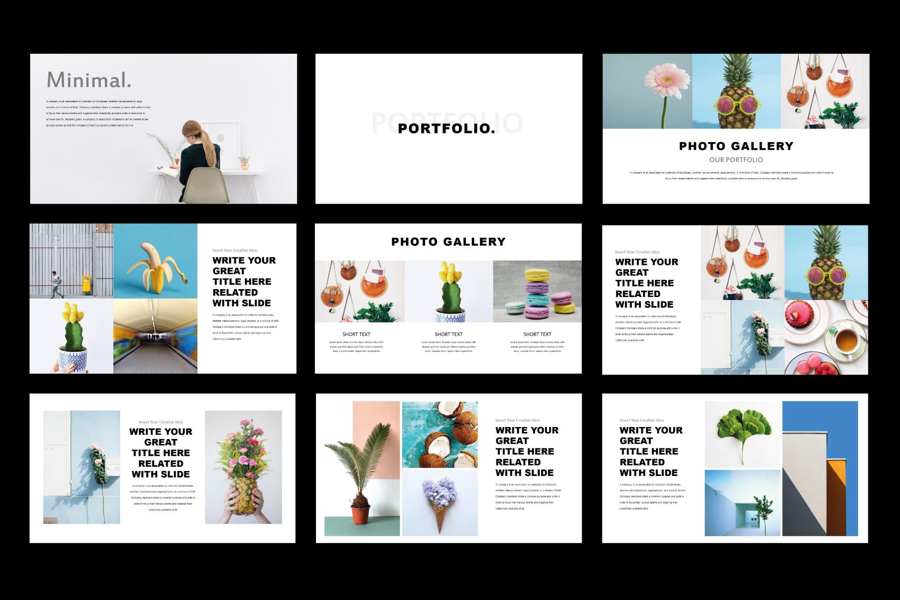 Tuxedo Minimal PowerPoint Templates example image 6