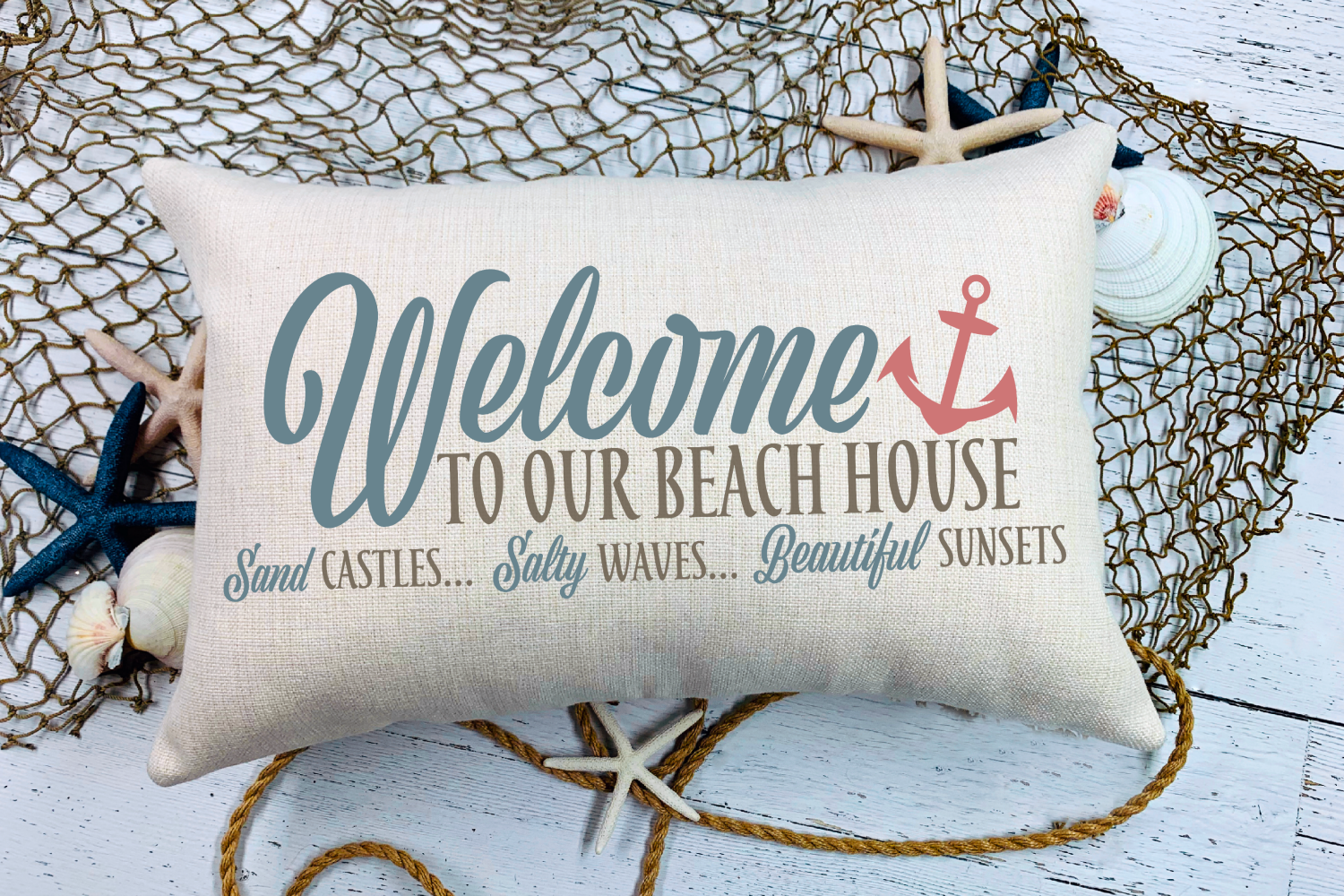 Beach - Summer - Sign - Welcome To Our Beach House SVG example image 2