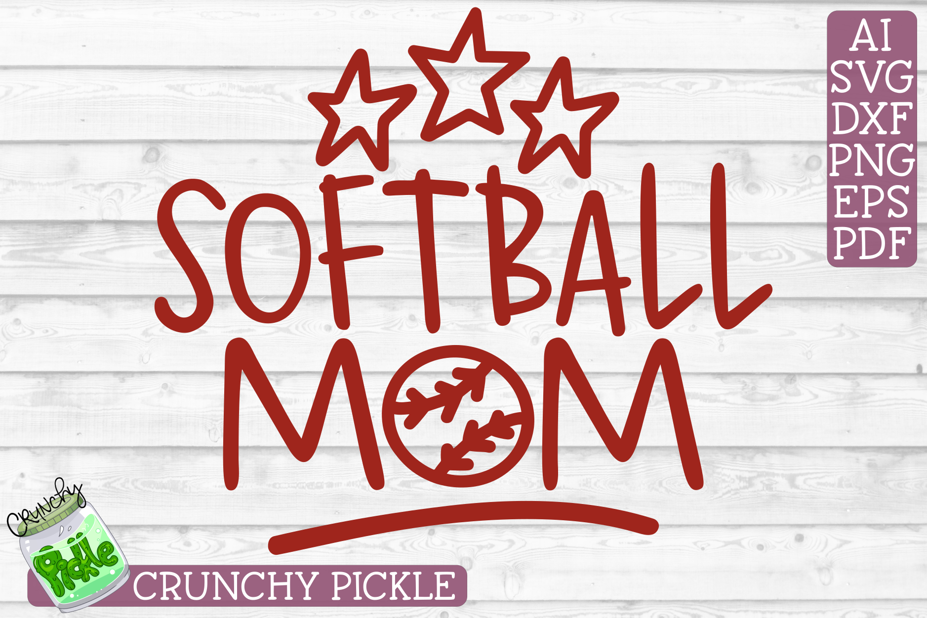 Softball Mom Sports SVG Cut File example image 2