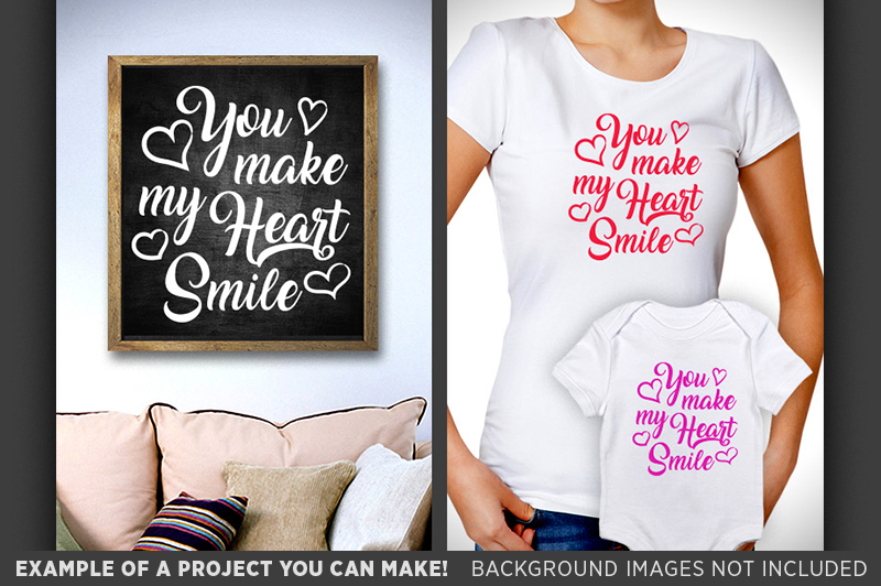 You Make My Heart Smile SVG - Valentines Decor SVG - 1505 example image 2