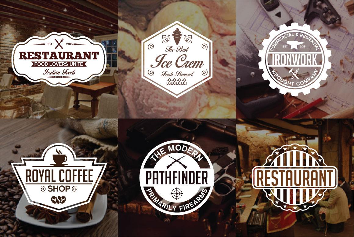 60 Vintage Bundle Logos Labels & Badges example image 2