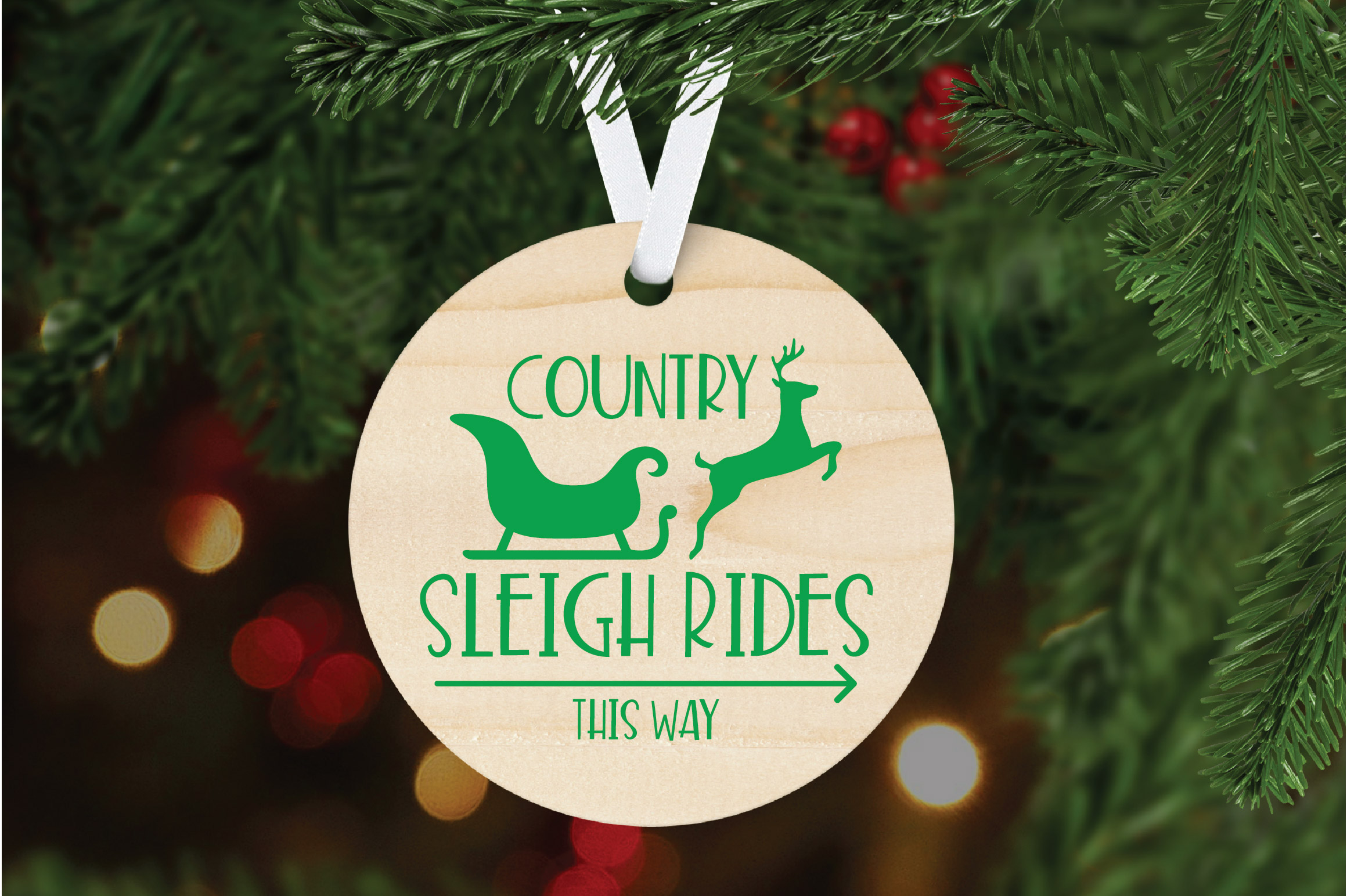Christmas SVG Cut File - Sleigh Rides SVG DXF PNG EPS JPG example image 6