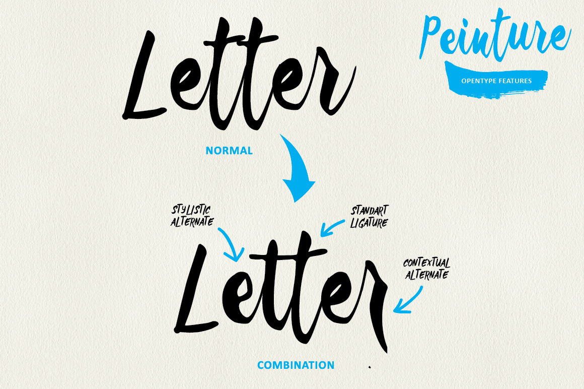 Peinture Typeface example image 5