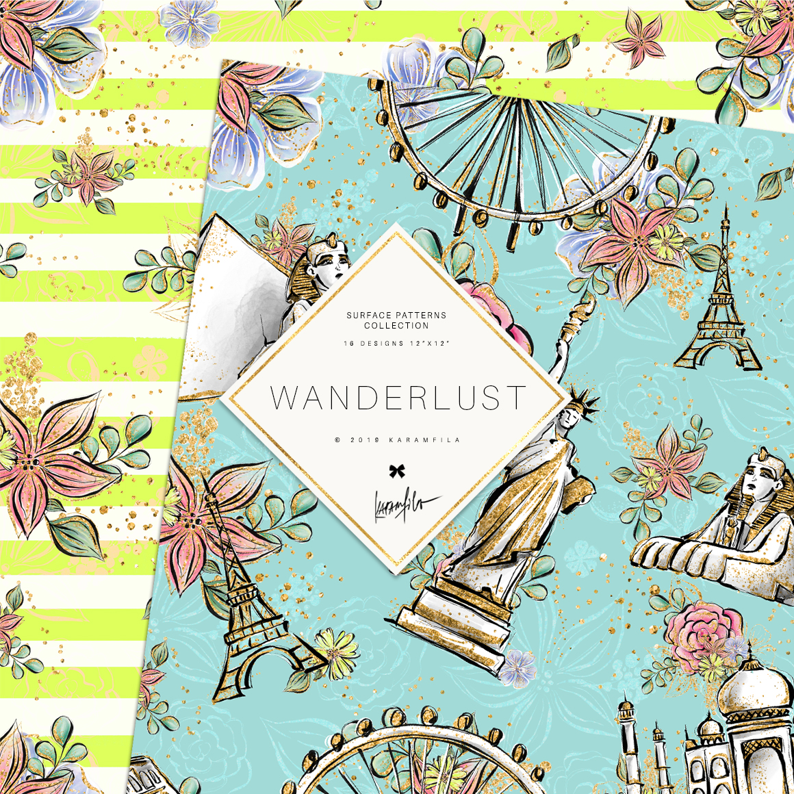 Wanderlust Patterns example image 4