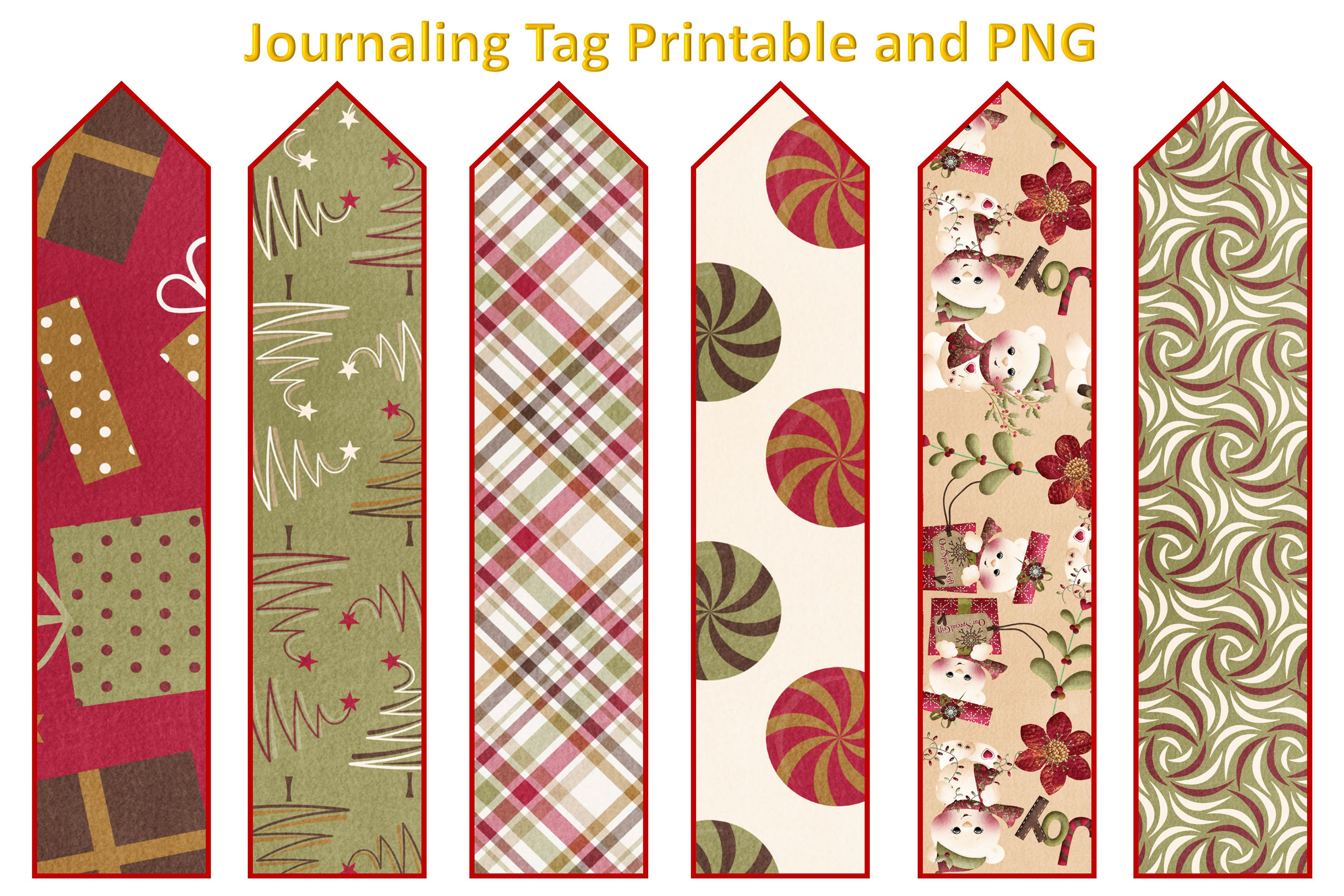 Christmas Journal Kit JPEG, PDF and PNG. Commercial Use example image 8