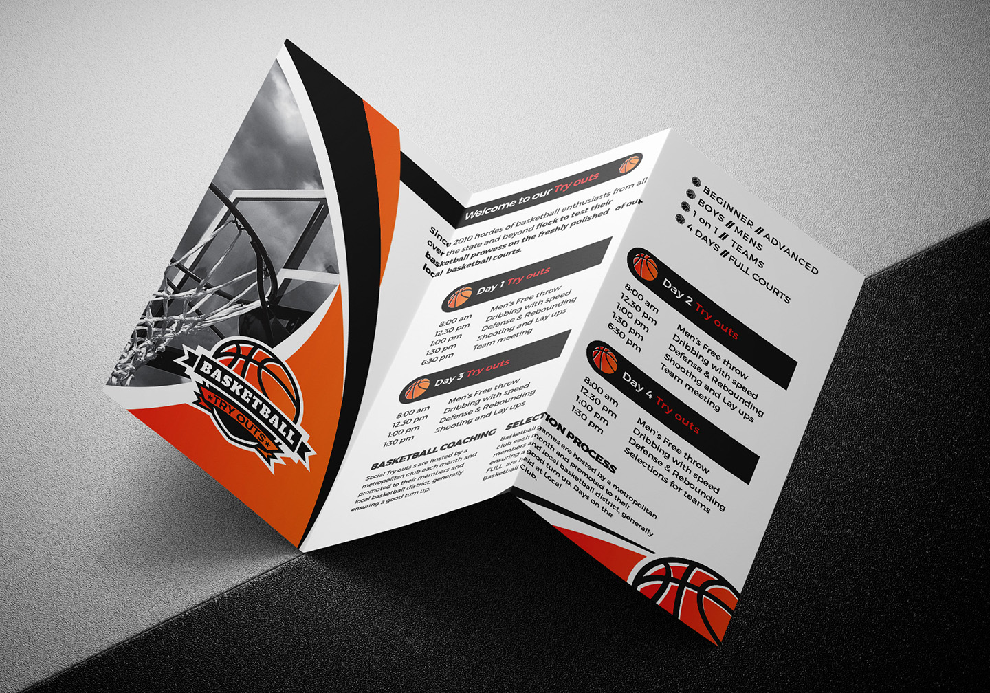 Basketball Tri-Fold Brochure Template example image 5