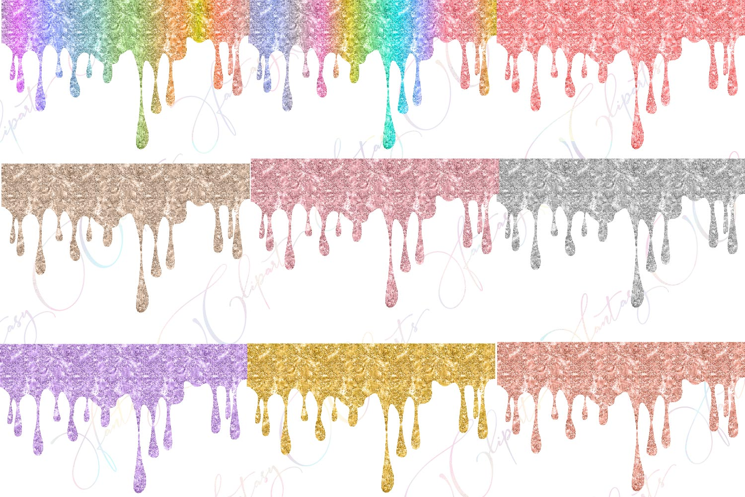 Glitter Drippings Clipart example image 2