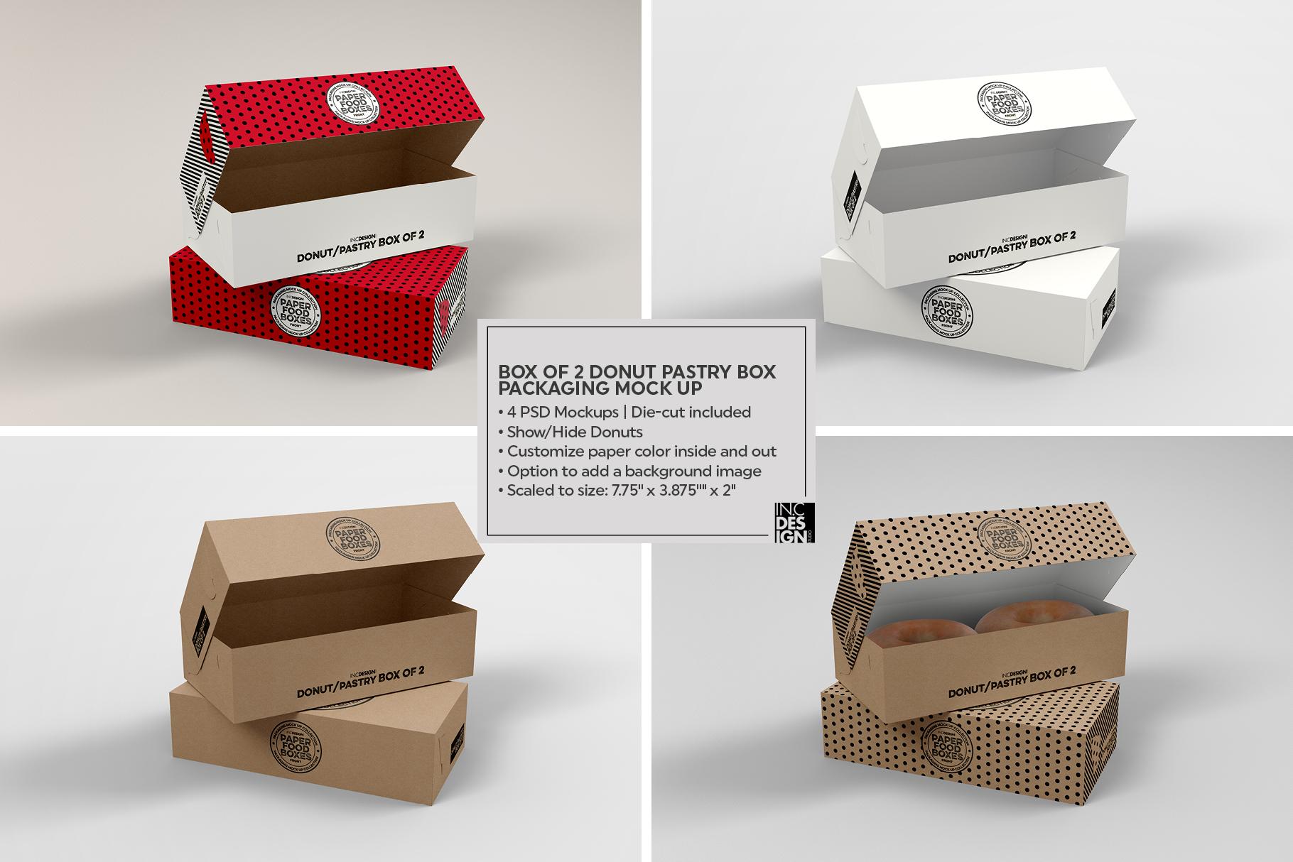 VOL.11 Food Box Packaging MockUps example image 10