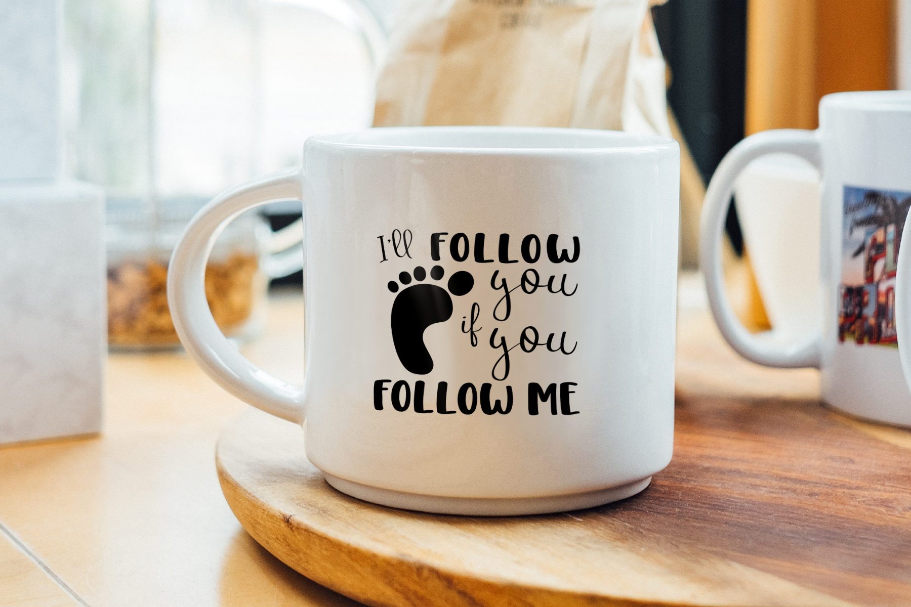 I'll Follow You if You Follow Me, SVG, Sublimation, Print example image 3