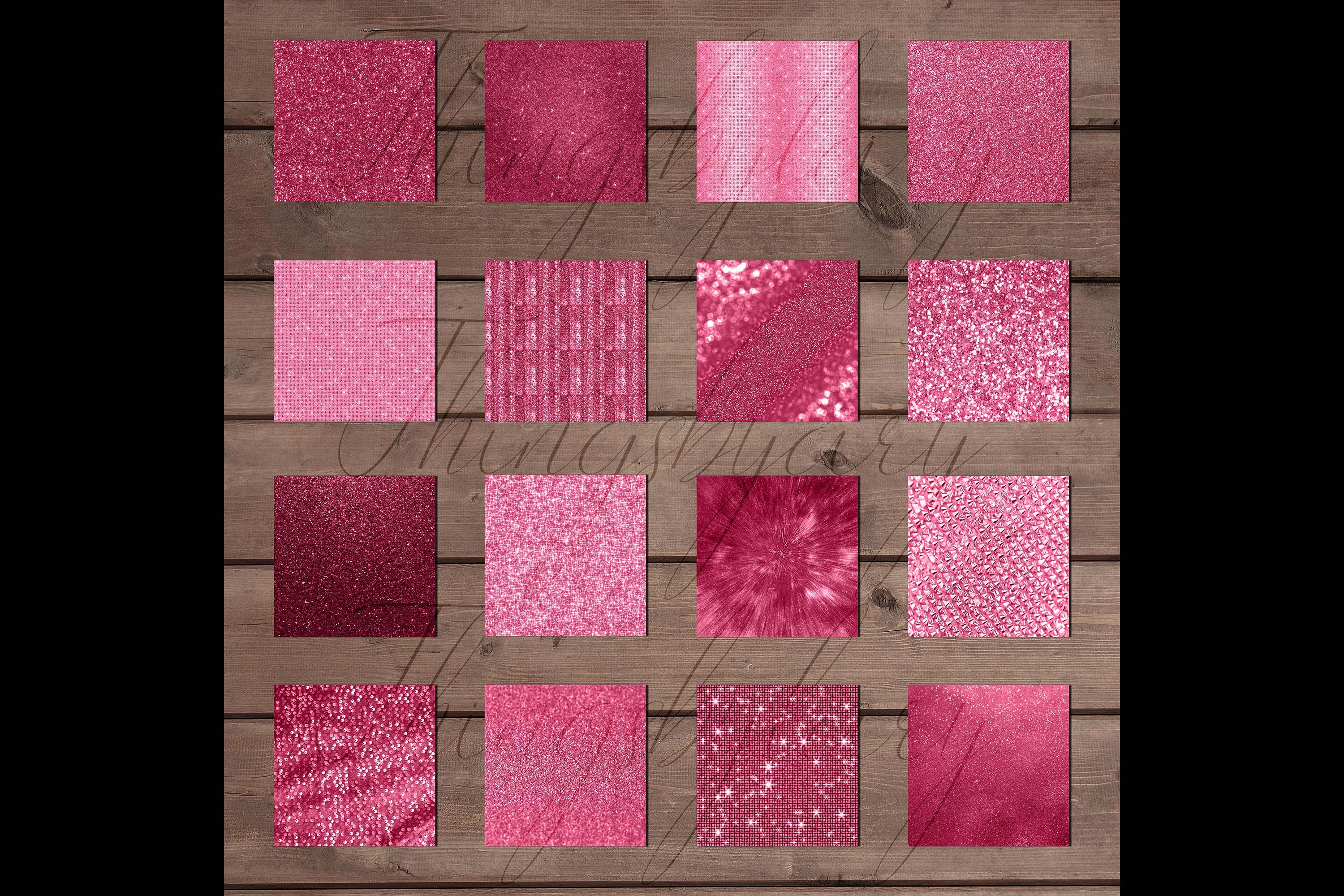 42 Blush Pink Princess Baby Glitter Sequin Digital Papers example image 9