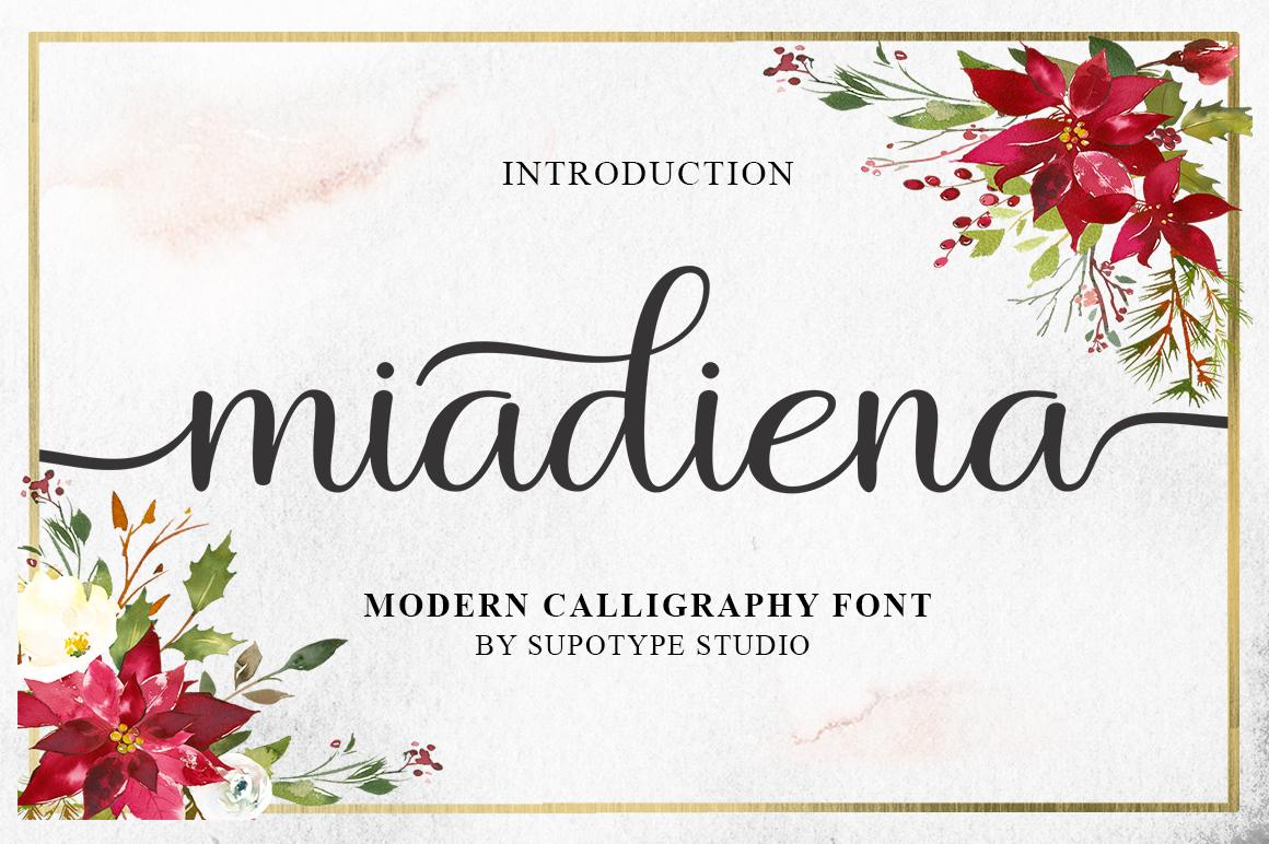Miadiena Script example image 1