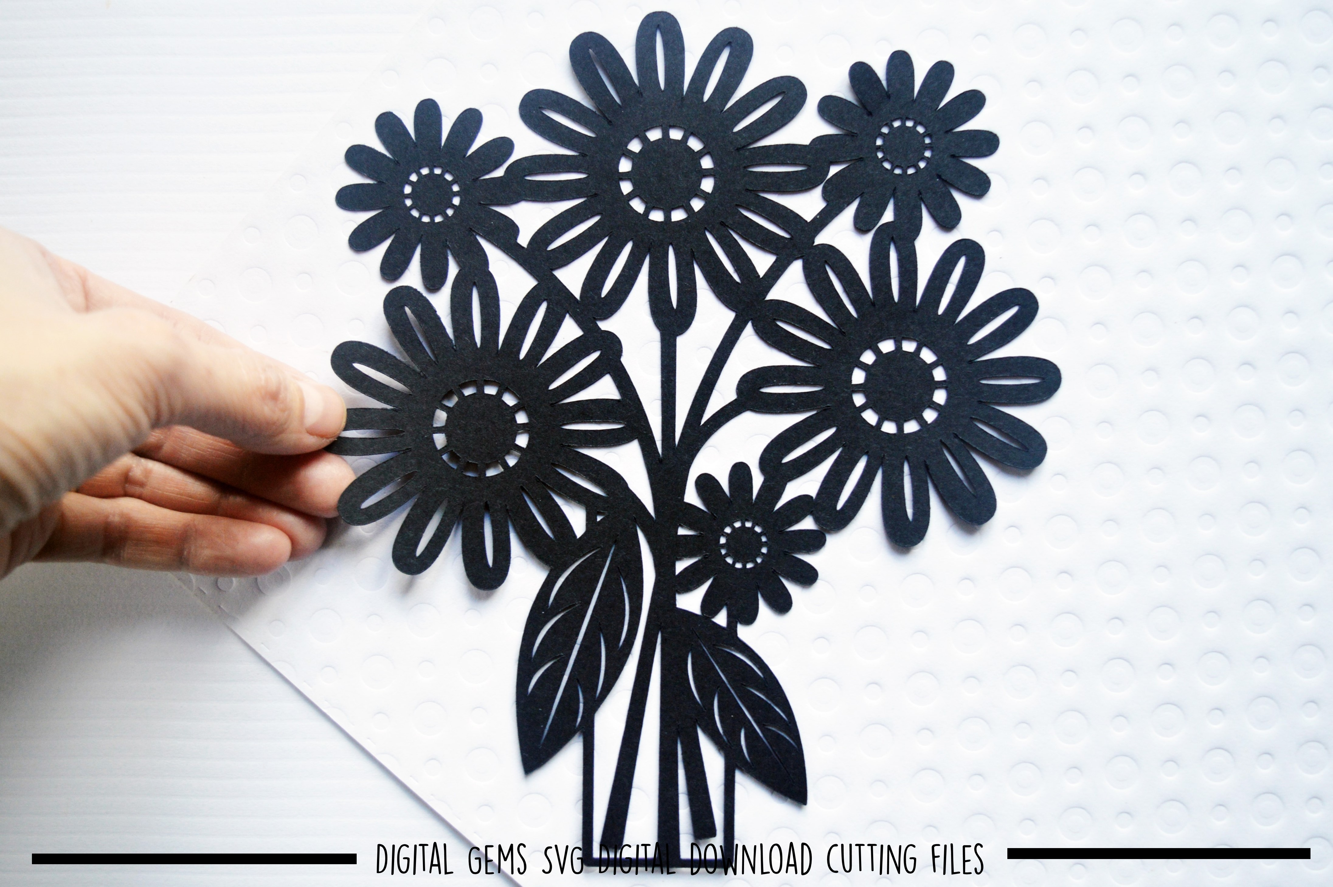 Flower paper cut SVG  DXF  EPS files example image 2