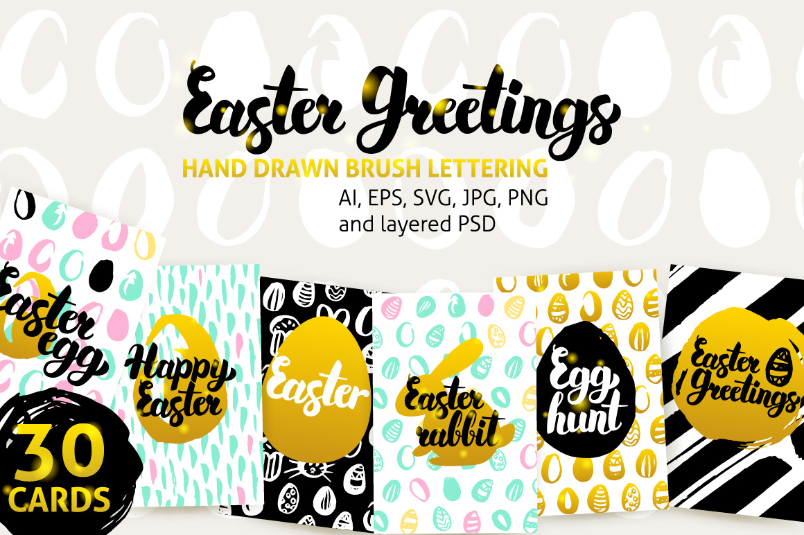 Easter Greetings Posters example image 1