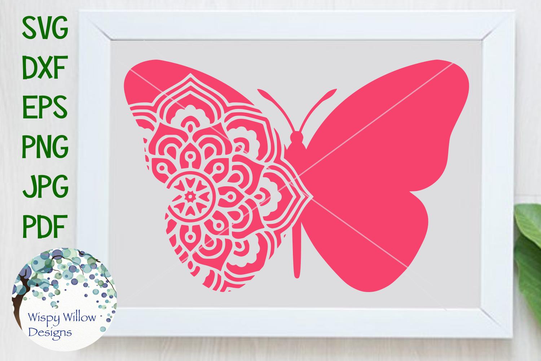 Butterfly Mandala, Animal Mandala SVG Cut File example image 1
