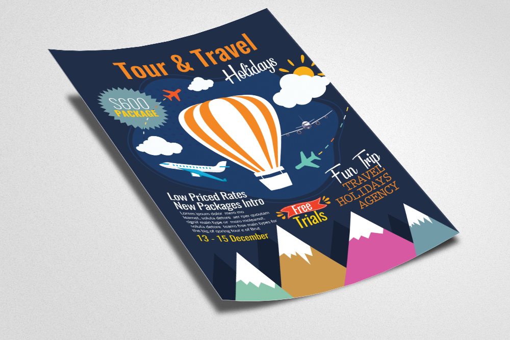 Tour & Traveling Agency Flyer Template example image 2