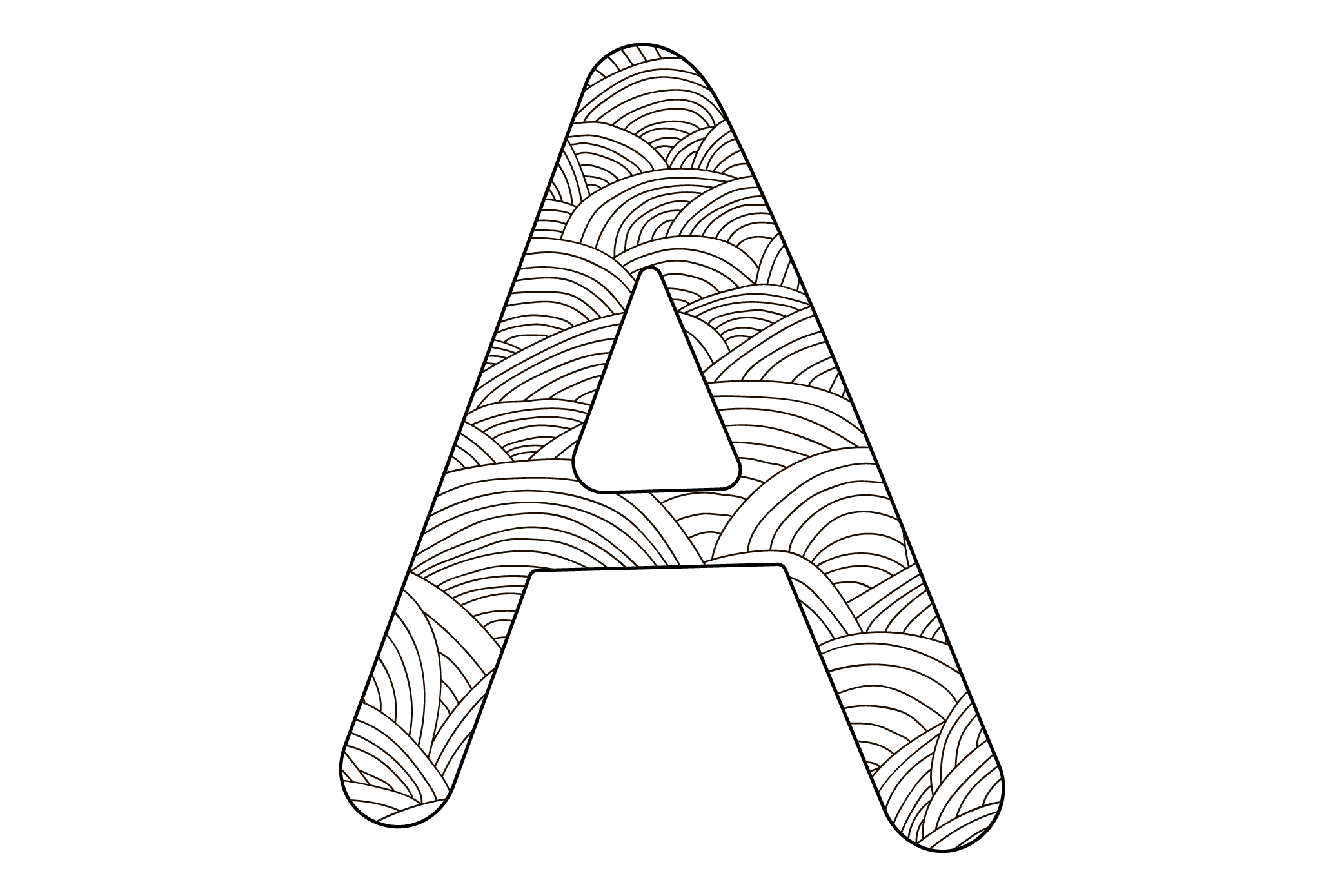 Alphabet. Letters A-Z. Coloring. example image 4