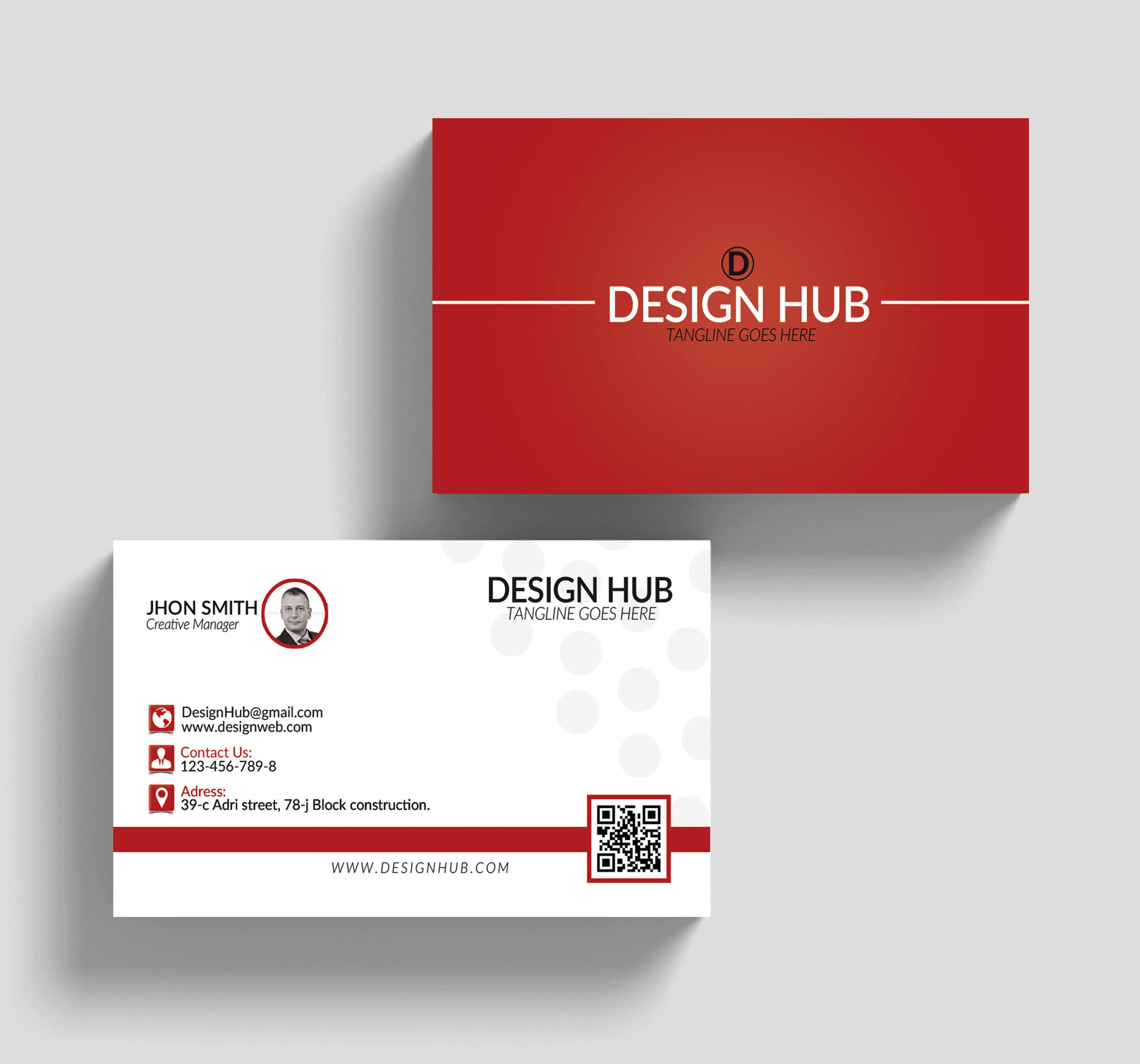 Simple Business Cards Template example image 3