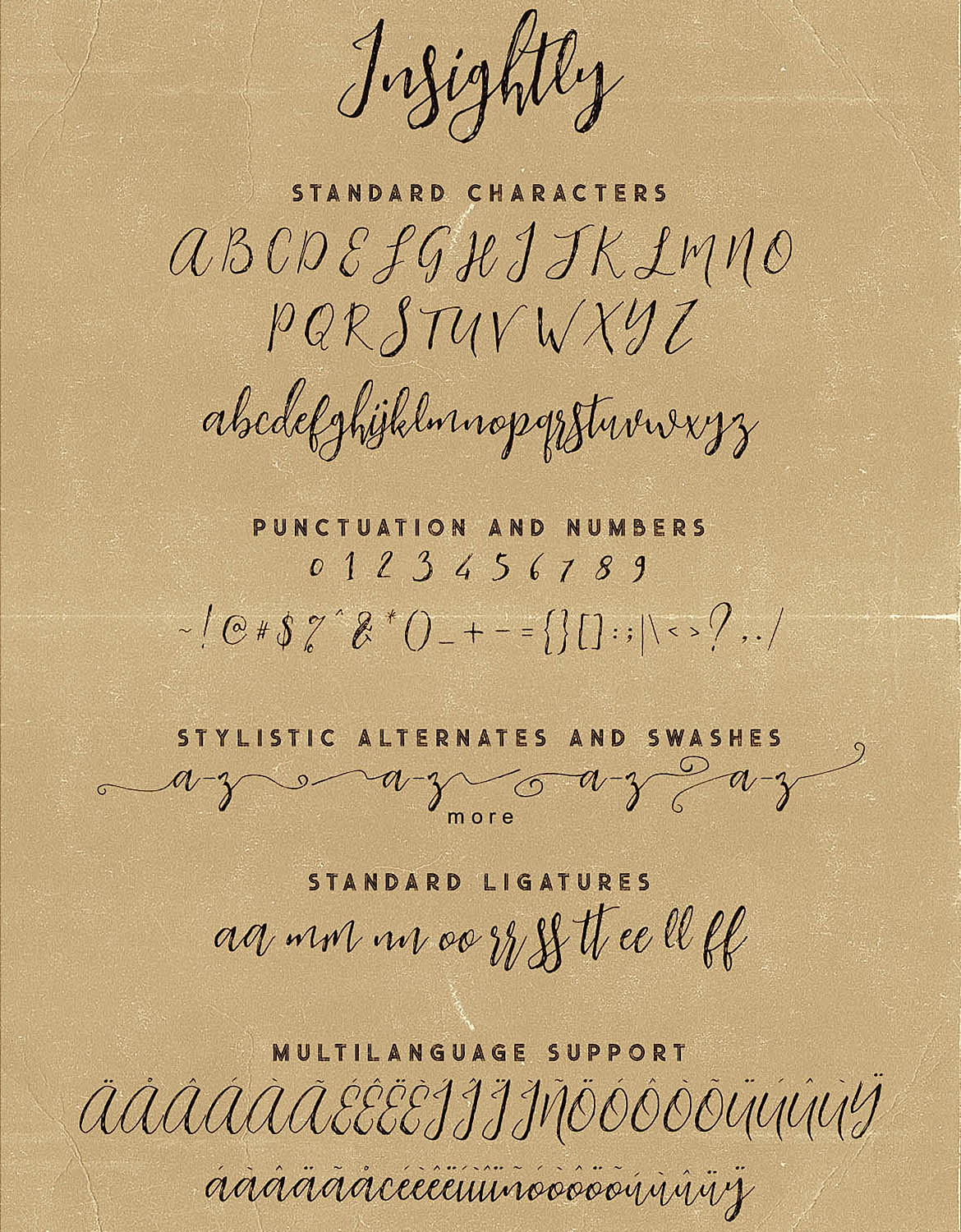 Insightly Font Duo example image 7