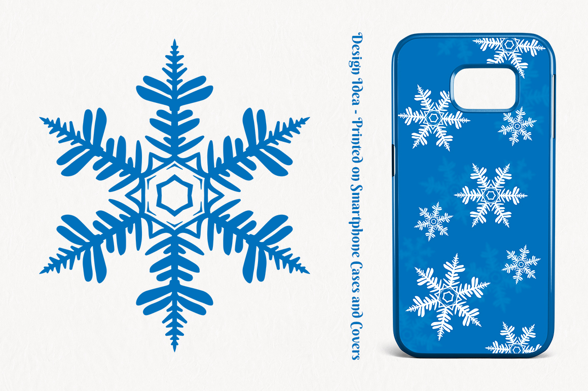 500 Snowflake Vector Ornaments example image 3