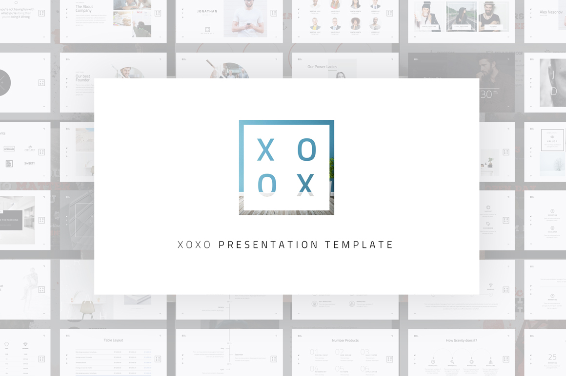 XOXO-Minimal Powerpoint Template example image 1