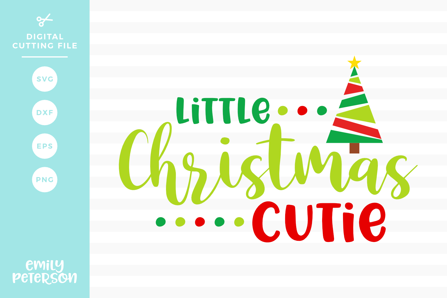 Little Christmas Cutie SVG DXF EPS PNG example image 1