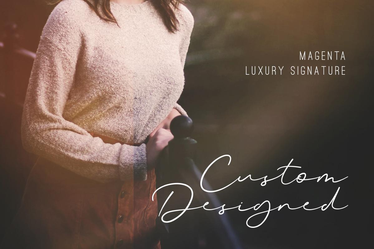 Magenta - 3 Luxury Signature Font example image 8