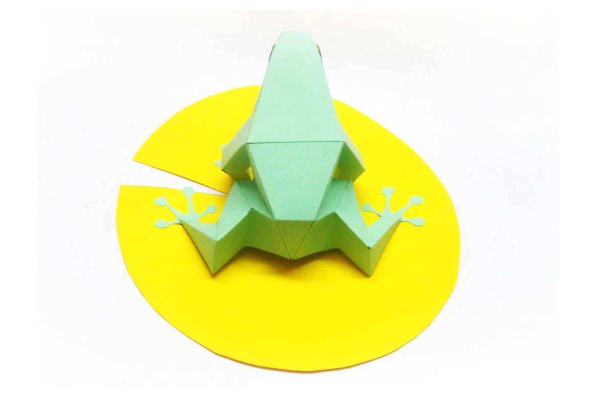 DIY Frog - 3d papercraft example image 3