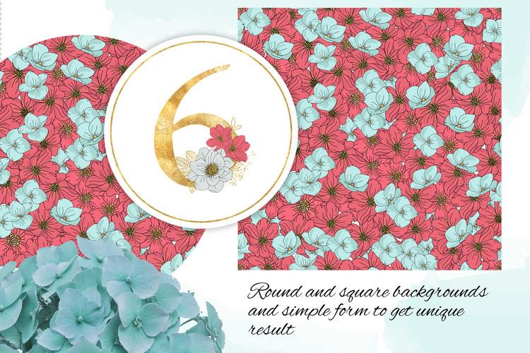 BLOOM Gold Floral Decorative Alphabet Number Set example image 12