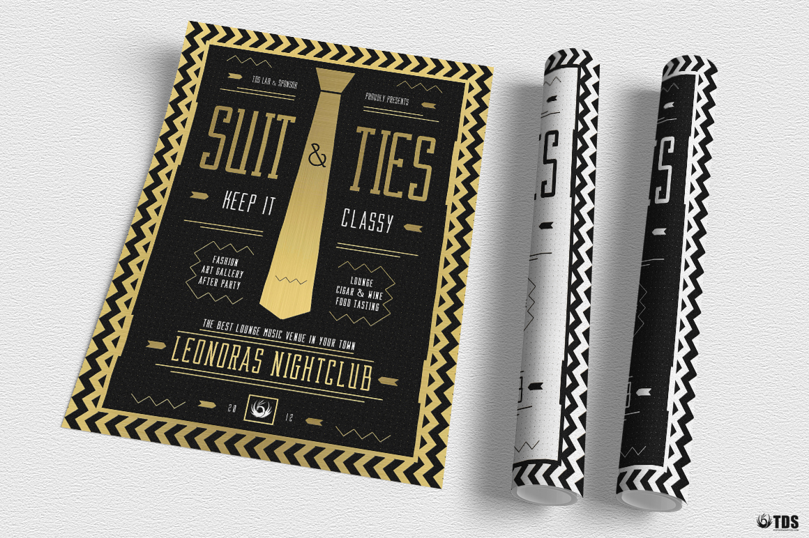 Suit and Tie Flyer Template V3 example image 7
