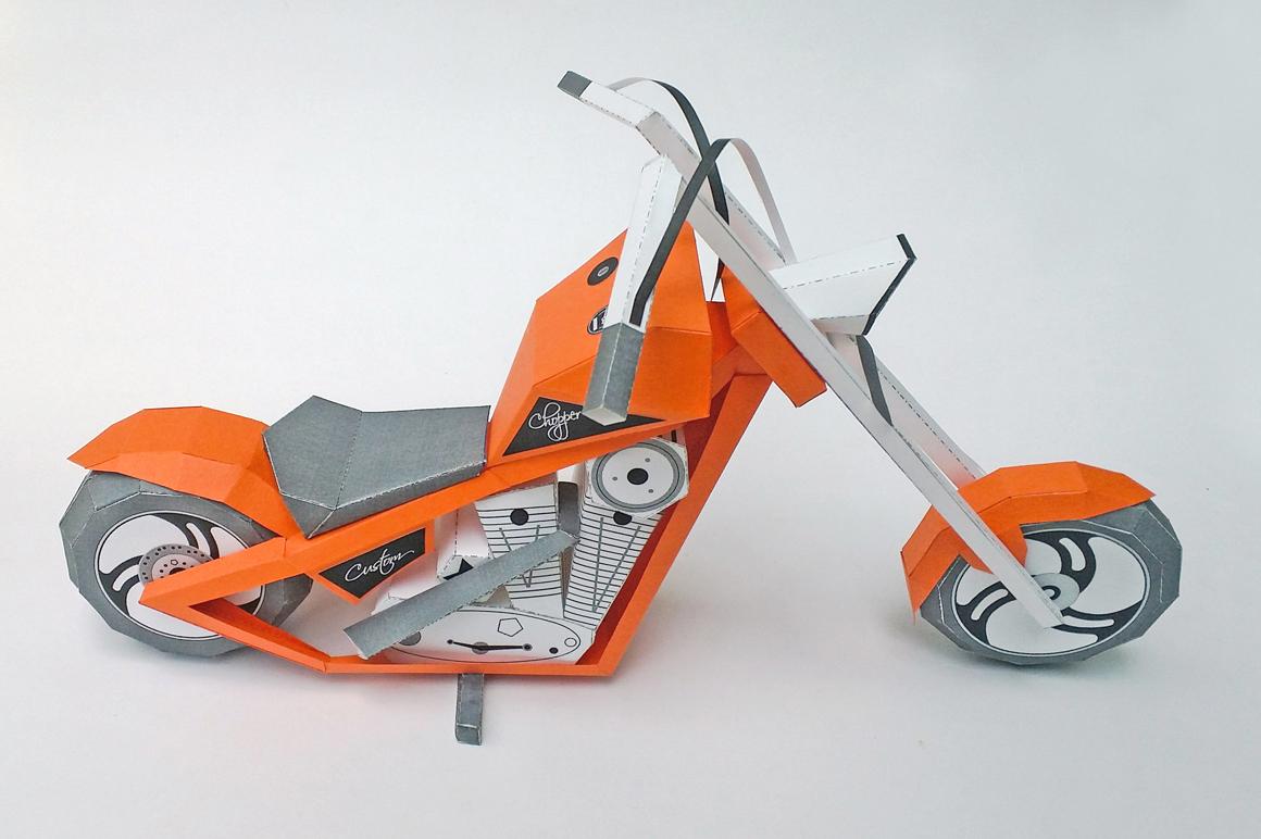 DIY Paper bike - 3d papercraft example image 3