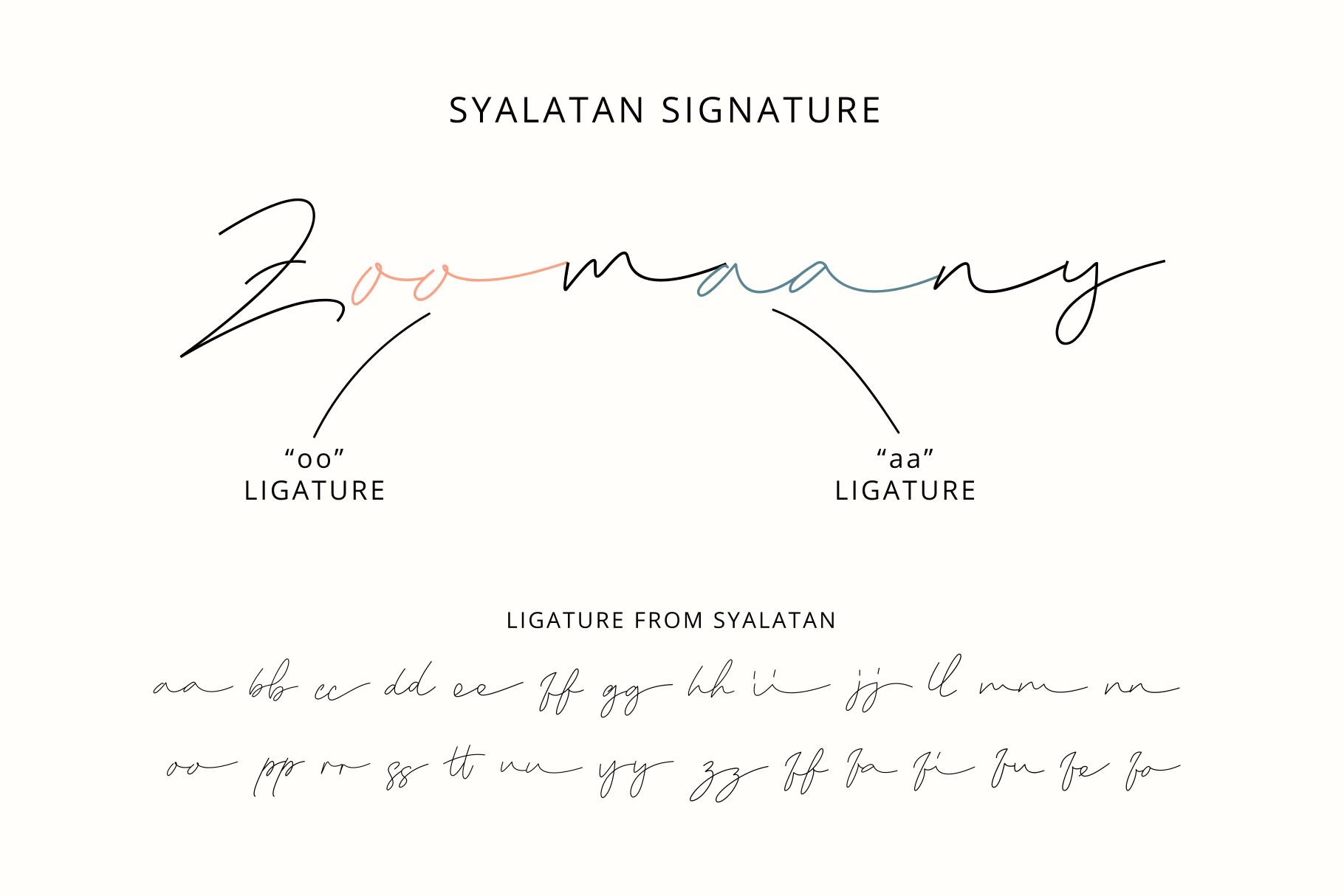 Syalatan - The Handwritten Signature example image 3
