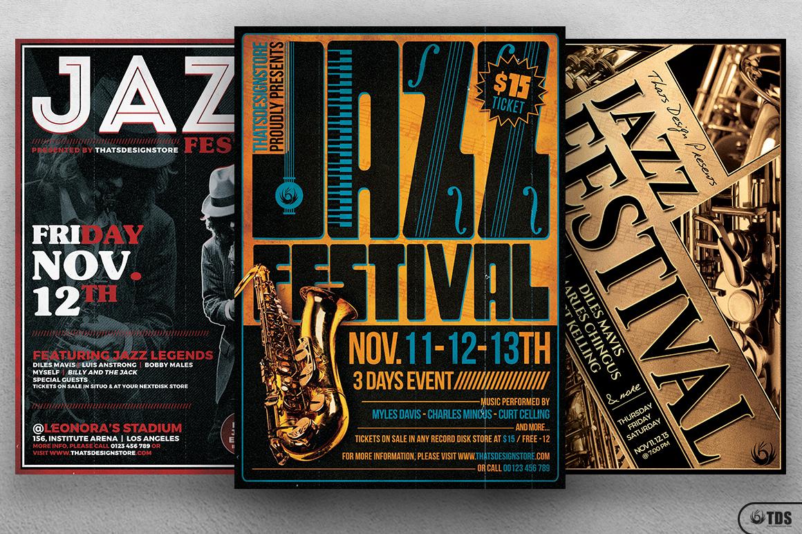 Jazz Festival Flyer Bundle V1 example image 3