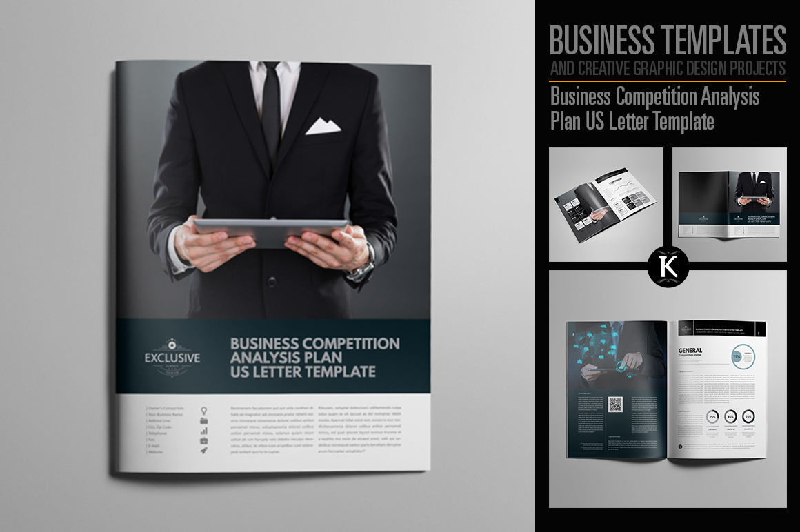 Business Competition Analysis Plan US Letter Template example image 1