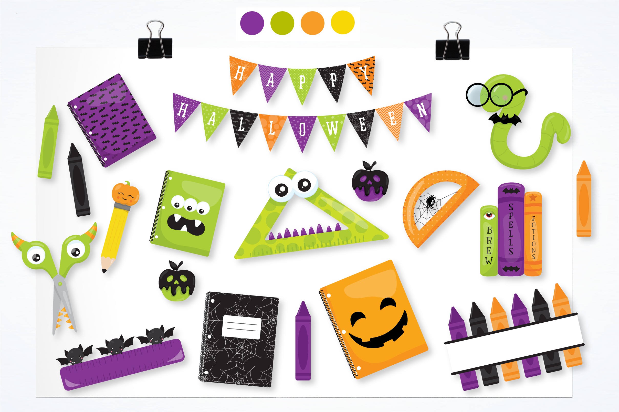 happy halloween graphics and illustrations example image 2