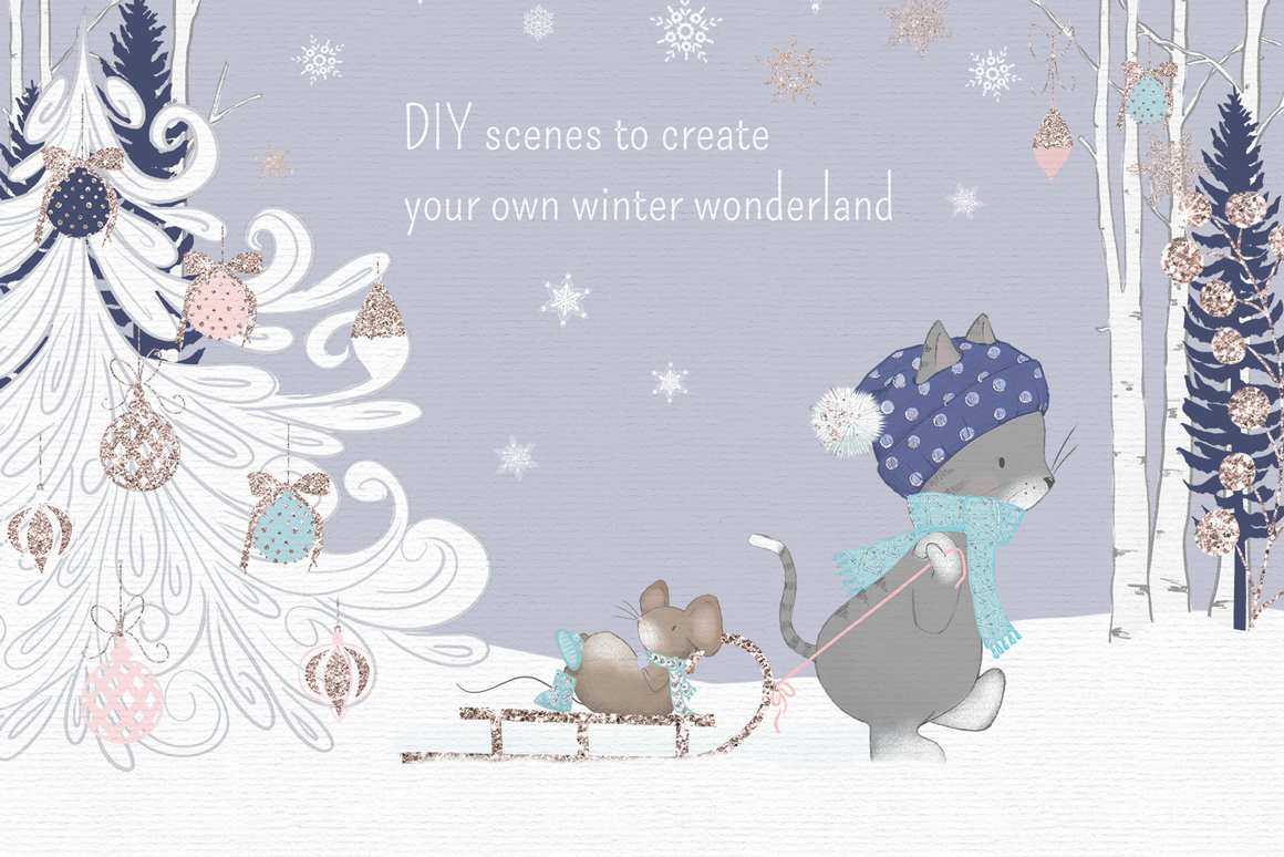 Winter Whimsy Clipart Collection example image 10